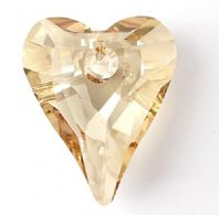 Golden Shadow 12mm 6240 Swarovski Wild Heart Pendant
